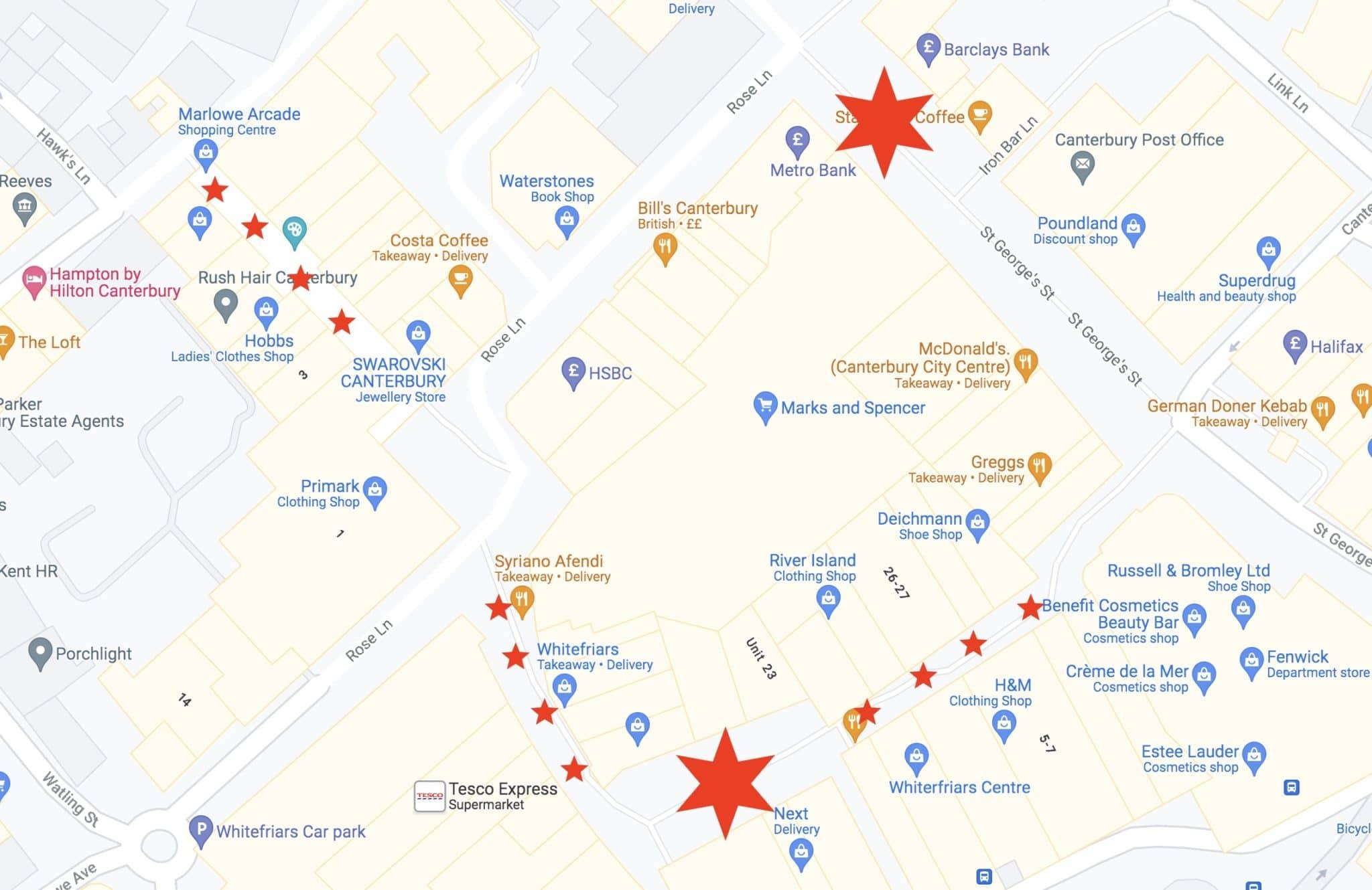 Canterbury Christmas Market Visitor Map